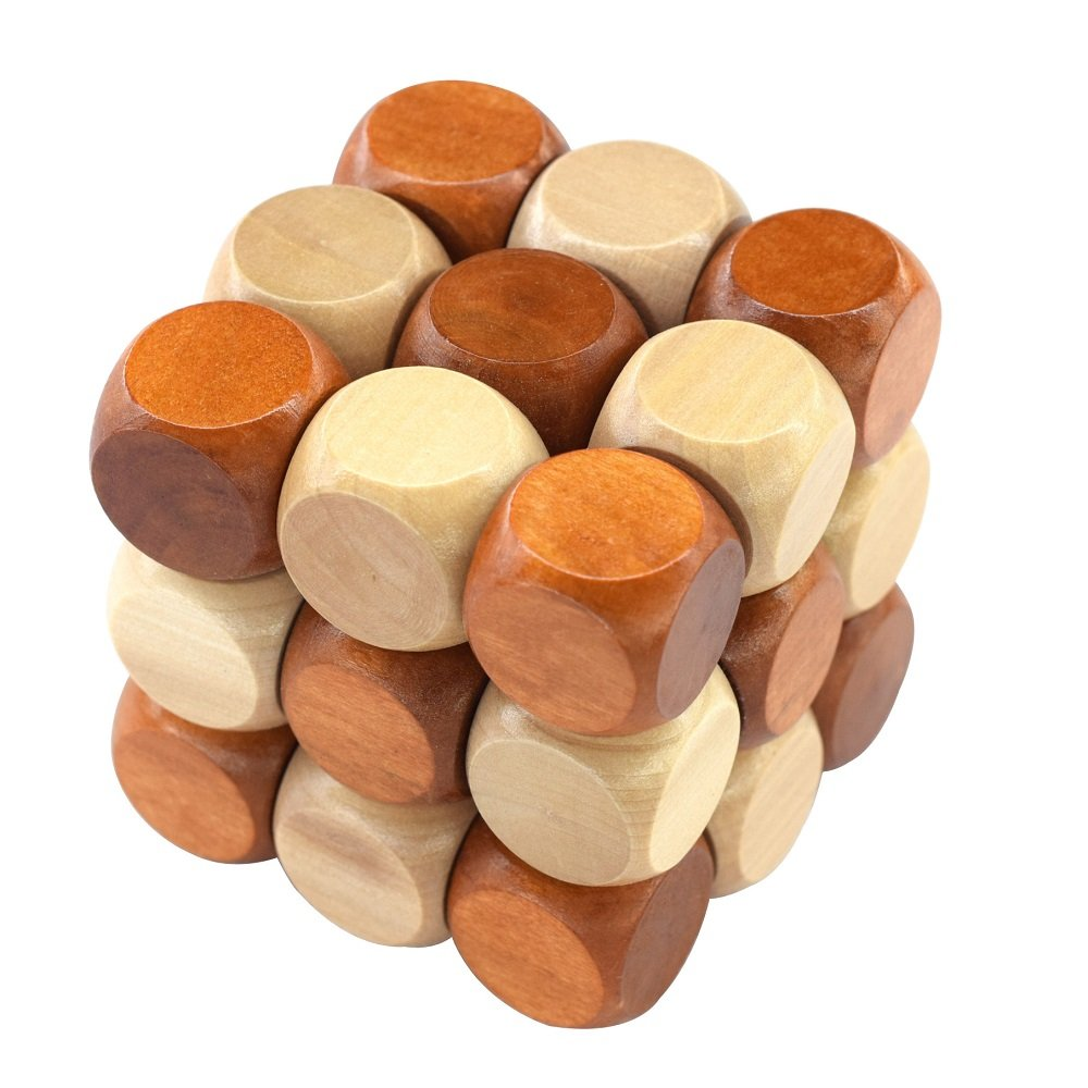 27 Pieces Wooden Magic Cube Building Blocks MMOO