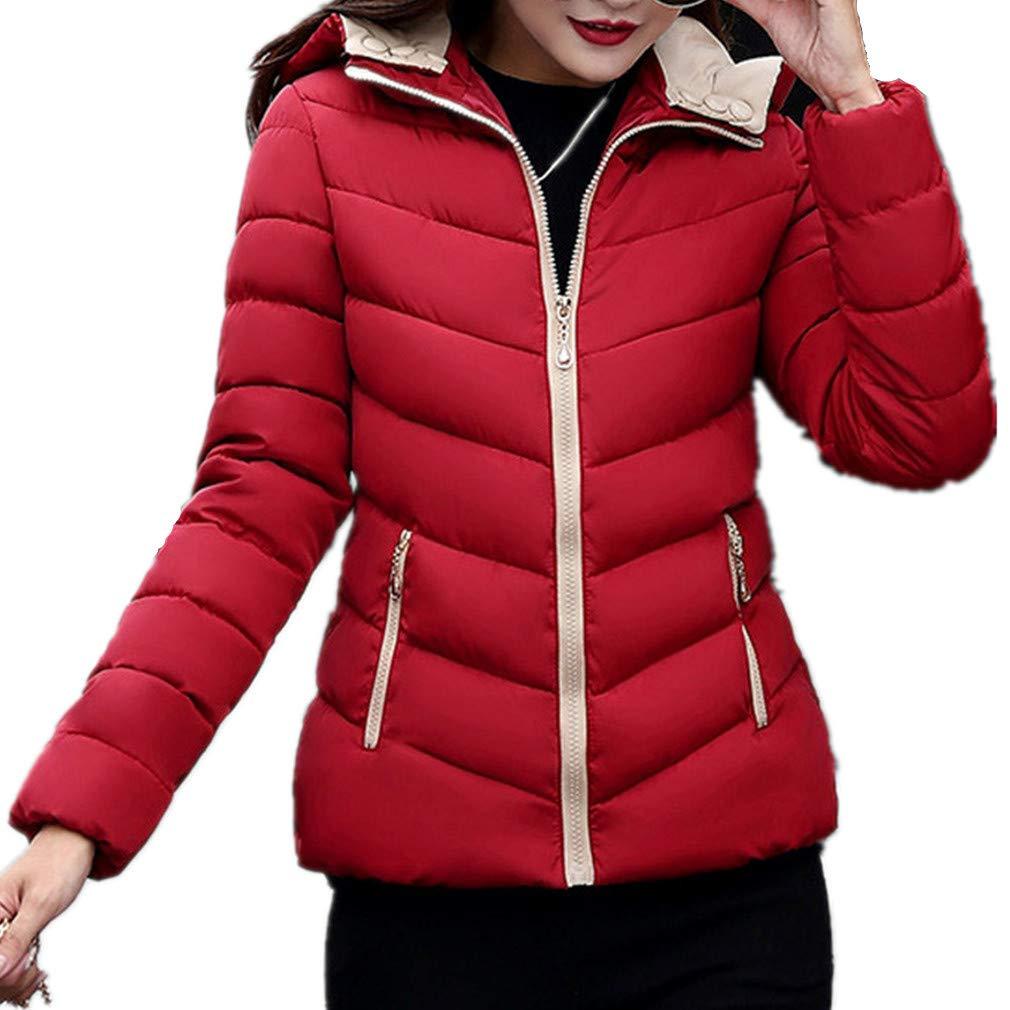 Fantaisiez Manteaux Femme Épais Chaud à Capuche Veste Manche Longue Automne Hiver Manteau Coton Décontractée Pardessus Jacket Outwear
