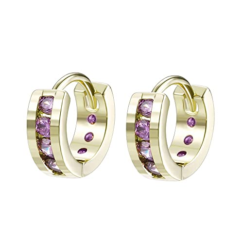 dcb12faf3 Xuping Hoop Earrings Christmas Round Shaped Earrings Women Black Friday  Gifts Jewelry (14k gold color + Purple): Amazon.ca: Jewelry