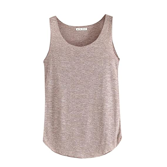 TOPUNDER Women Summer Vest Sleeveless Round Neck Tank Loose Singlets by at Amazon Womens Clothing store: