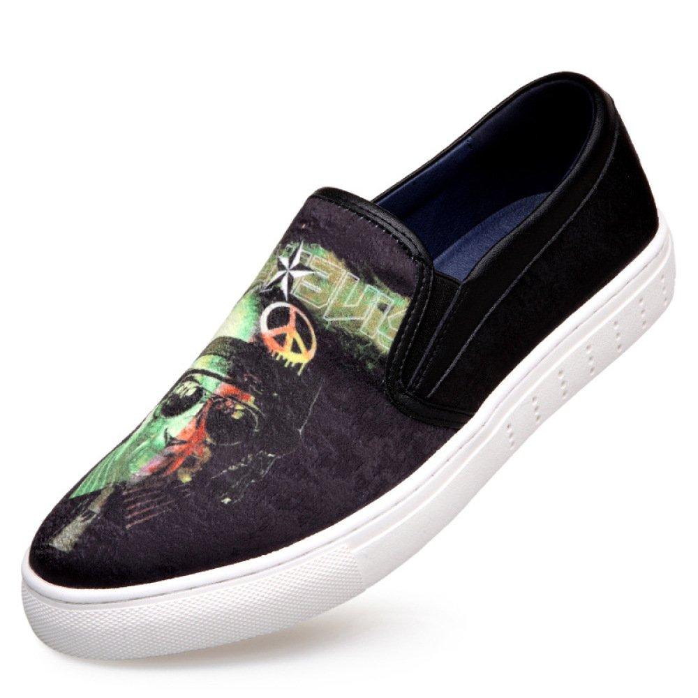 LQV Los Zapatos De Los Hombres De Color Juvenil Patrón De Tendencia De La Tendencia De Los Zapatos Silvestres Cómodos Zapatos De Lona 43 EU|A