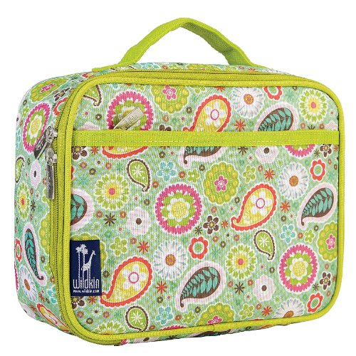 Bloom Box - Lunch Box, Wildkin Lunch Box, Insulated, Moisture Resistant, and Easy to Clean with Helpful Extras for Quick and Simple Organization, Ages 3+, Perfect for Kids or On-The-Go Parents – Spring Bloom