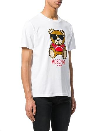 0f8207fae9edf Moschino Swim Herren T-Shirt Weiß Bianco 44: Amazon.de: Bekleidung