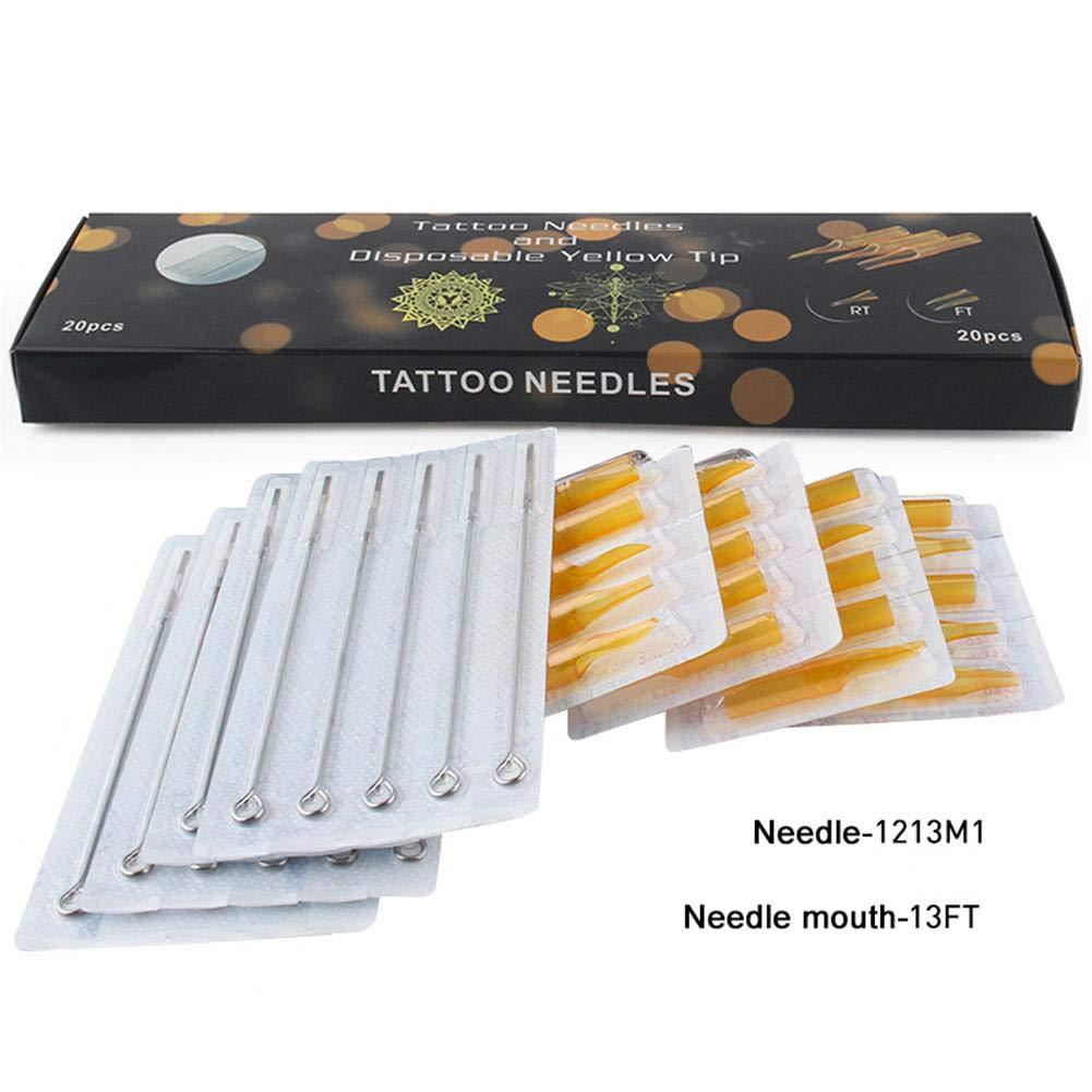 20 pcs Agujas para Tatuar RM/RL/M1 Conjunto de Suministros de ...