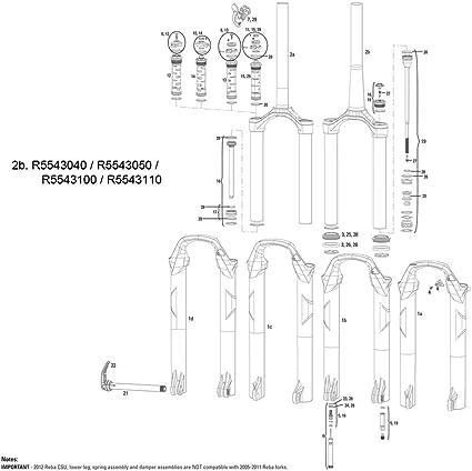 RockShox Dual Air Spring Assembly and Air Top Cap Kit 2012 Reba//SIDB 29