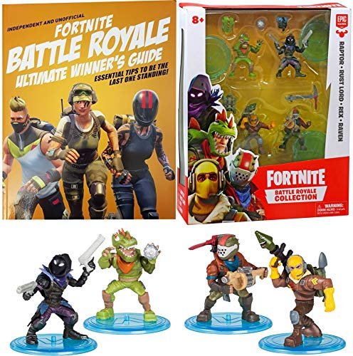 Battle Figure Raven Raptor Fortnight Figures Rust Lord Rex Action Royale Collection Pack + Ultimate Winners Guide