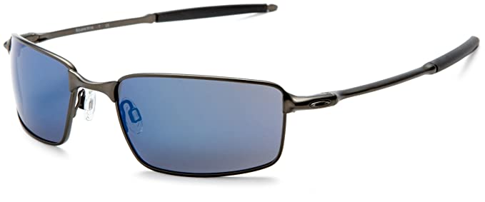 oakley mens square wire iridium sunglassespewter frameice lensone size