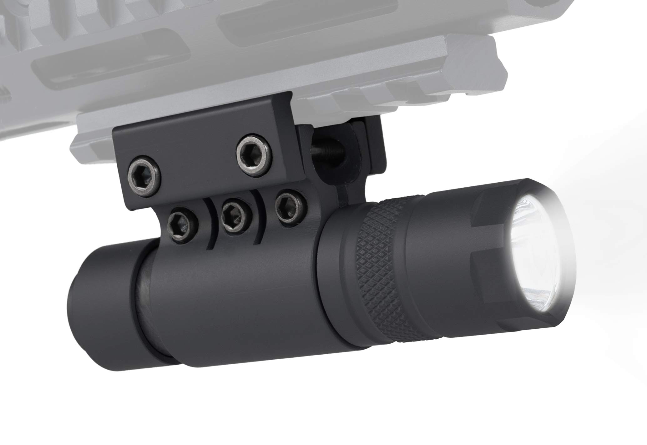 Monstrum 90 Lumens LED Flashlight with Rail Mount and Detachable Remote Pressure Switch