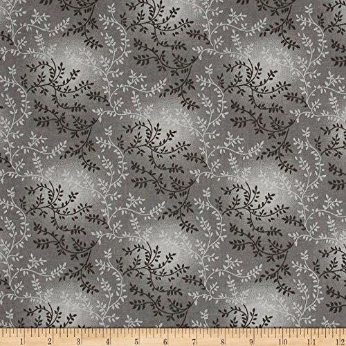 "Santee Print Works 108"" Wide Back Tonal Vineyard Grey Fabric by The Yard"