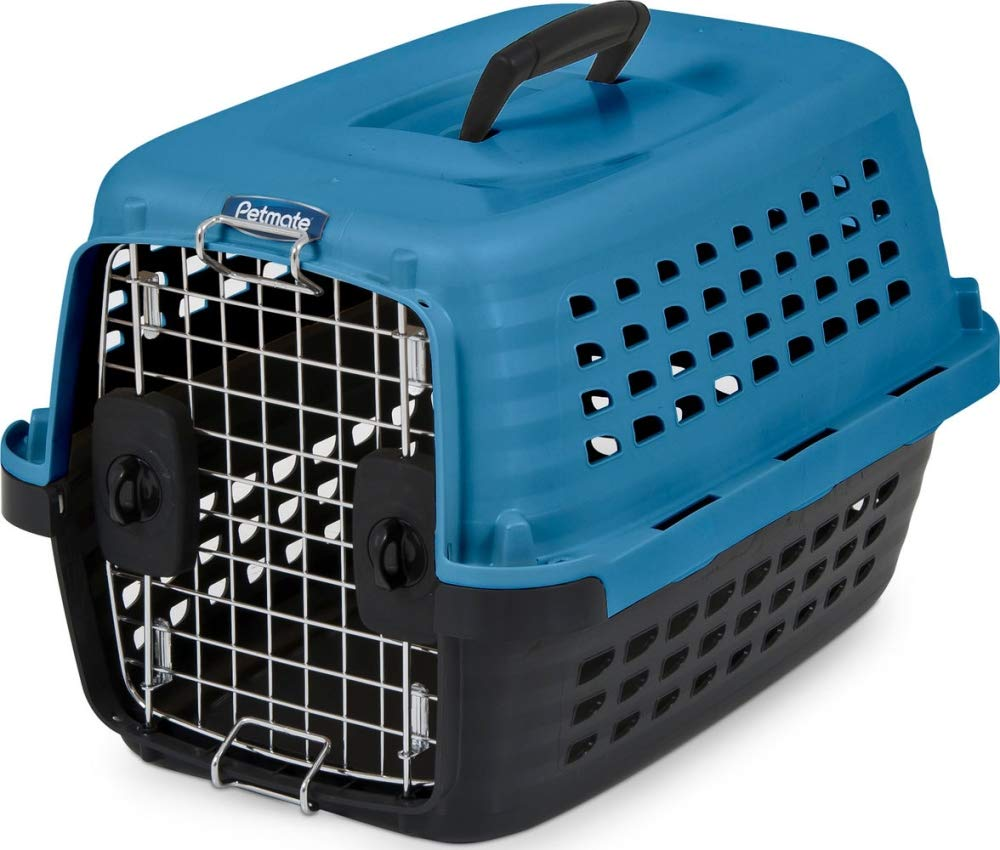 Island bluee Black Up to 10LBS Island bluee Black Up to 10LBS Petmate 41039 Compass Fashion Pets Kennel with Chrome Door, Island bluee Black