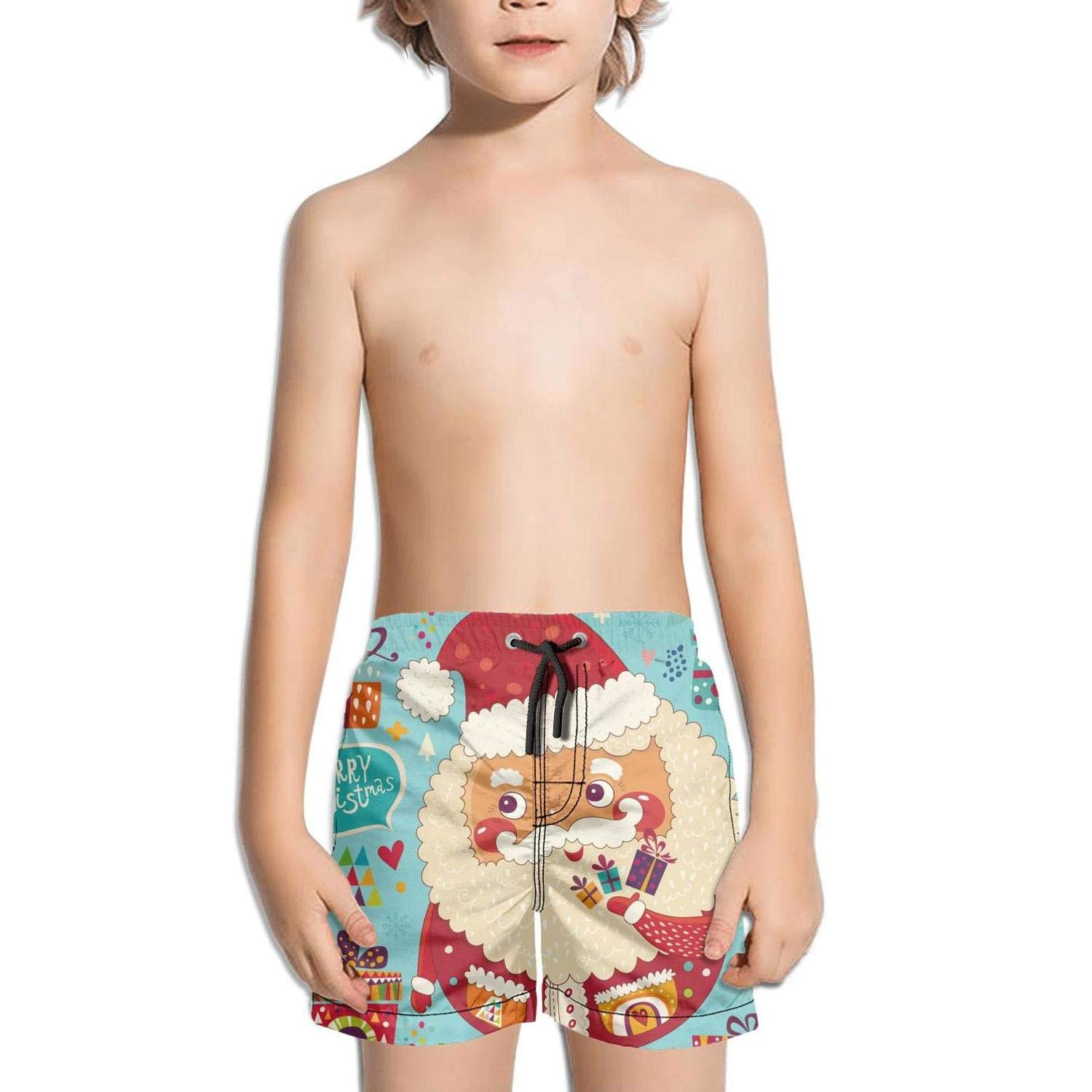 Rkouquhuaqi Boys Quick Dry Beach Board Shorts Sakura Trees Snow with Mesh Lining
