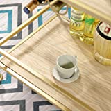 trolley Service, 2-Layer Metal Solid Wood Dining