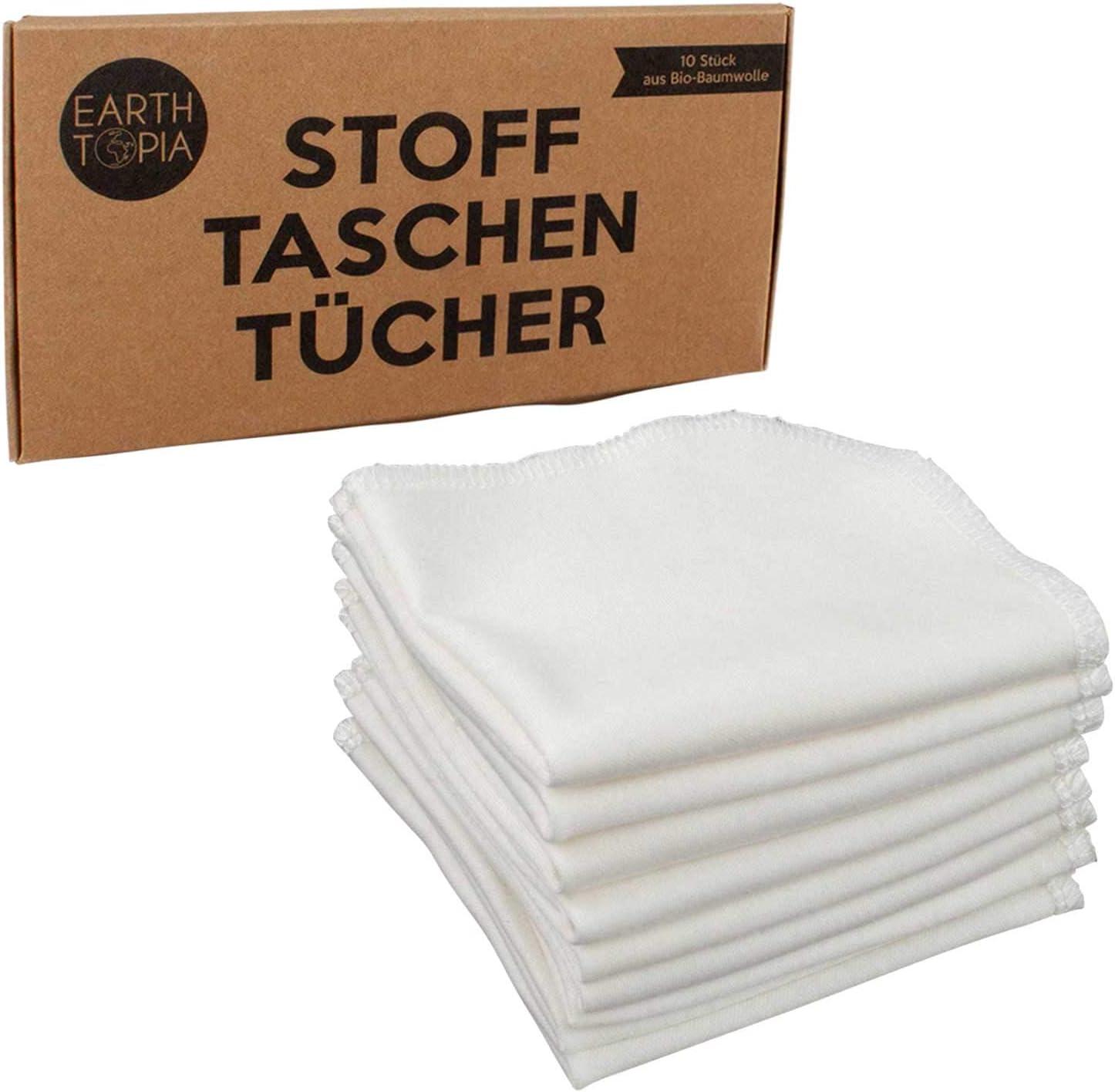 Earthtopia 10 pañuelos de tela de algodón orgánico, pequeños ...