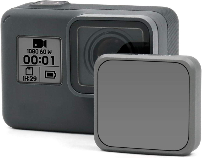 Hero 6 Black AGC Optics Glass LENSKINS MRC ND16 Filter for GoPro Hero 5 Black Hero 7 Black Snug Fit GoPro Lens Filter with Lens Cloth 18-Layer Multi-Resistant Coating Neutral Density Filter