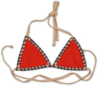 product image for Women's Shell Stitch Swimwear with Back and Neck Tie Triangle Bikini Top - Made in The USA