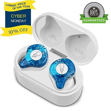 YOLOCE Auriculares Bluetooth Inalámbricos Mini Twins Stereo Auriculares Inalambricos con Caja de Carga y Micrófono Integrado