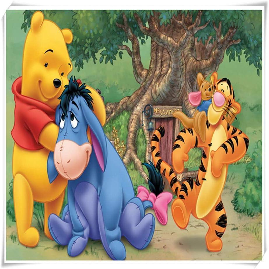 VAST Juegos de Puzzles for Adultos y for niños, Dibujos Animados Animado Winnie The Pooh Rompecabezas, 300 ~ 1000 Piezas en Caja Juguetes Arte del Juego 529 (Color : B ,