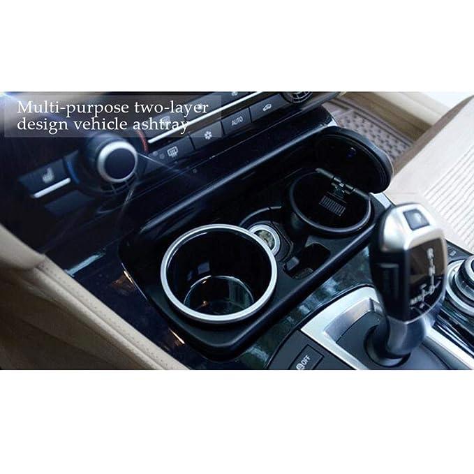 SayHia Auto Aschenbecher Rauchfreie Fahrzeug Zigarre Tragbare Aschenbecher Getr/änkehalter Mit LED f/ür BMW 1 3 4 5 7 Serie X1 X3 X5 X6