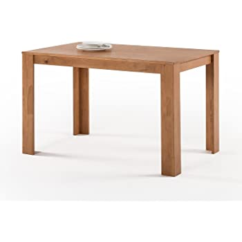 zinus mission style wood dining tabletable only natural - Mission Style Dining Table