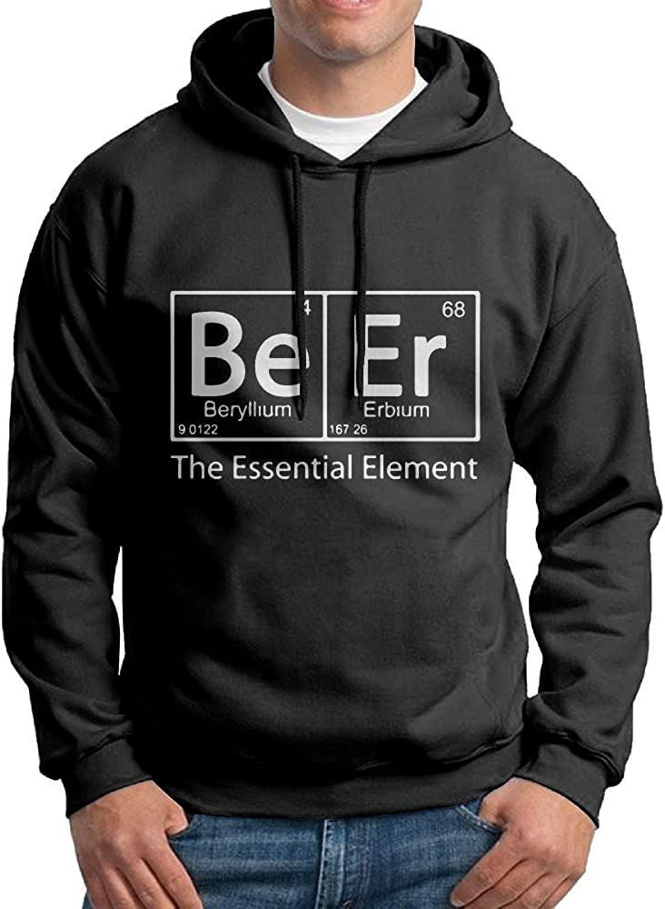 Element Of Beer Mens Blacklong Sleeve Hoodie Outwear