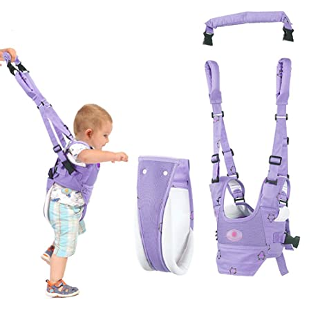 Woltechz Baby Walker Toddler Walking Assistant, Stand Up and Walking Learning Helper, 4 in 1 Safety Breathable Walking Harness Walker for Baby 6-27 Months Purple
