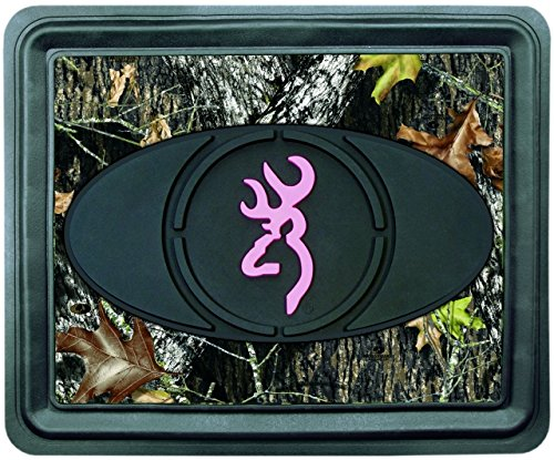 (Browning Pink Buckmark Utility Floor Mat (Mossy Oak Break-Up Camo, Molded PVC Rubber, 13