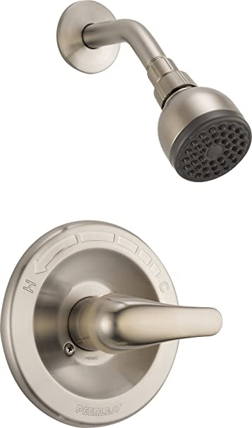 Brushed Nickel Peerless Faucet Peerless 5-Spray Hand Shower with Touch-Clean