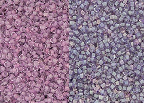 11/0 Toho Japanese Seed Beads - Glow In The Dark - Dark Pink/Green Pink #2724 (28g Tube)
