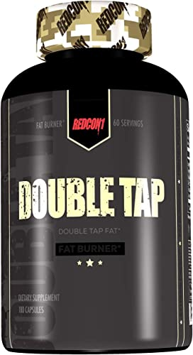 Redcon1 Double Tap Thermogenic Fat Burner 180, Capsules 2 Month Supply, Larger Size