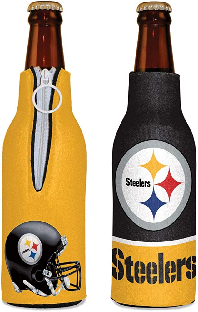 WinCraft NFL Pittsburgh Steelers Bottle Cooler, Team Colors, One Size