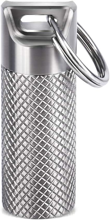 Amazon.com: Opret - Pastillero de titanio con llavero y ...