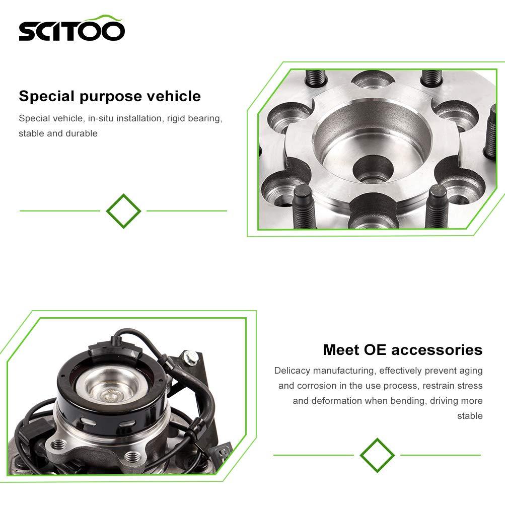 SCITOO Front Axle Right Wheel Bearing Hub 515109 Hub Bearing Hub Assemblies 6 Bolts ABS Sensor fits Chevrolet Colorado Pack of 1