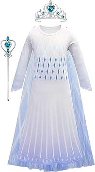 O.AMBW Elsa Disfraz Niña Reina de las Nieves 2 Princesa Falda ...
