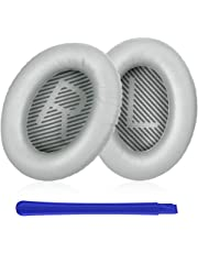 Almohadillas Auriculares,TesRank Reemplazo Almohadilla de Repuesto Cojínes Oído Espuma Almohadilla para Bose QuietComfort QC 2 15 25 35 AE2 AE2i AE2w SoundTrue SoundLink II Around-Ear Auricular-Plata