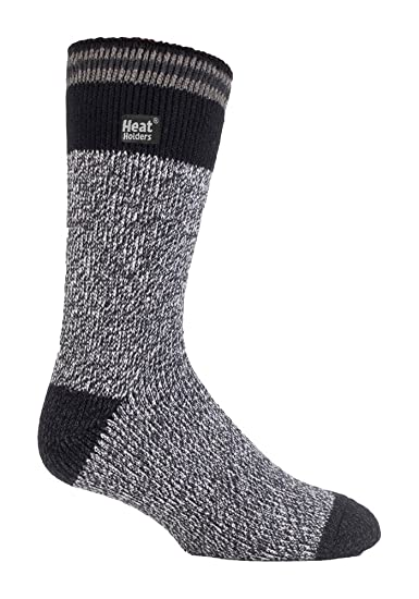 Heat Holders - Mens Patterned Twist Thermal Socks in 35 Colours, Size, 7-