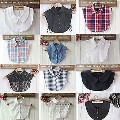 Magik Choker Necklace Unisex Women Peter Pan Detachable Lapel Shirt Fake False Collar