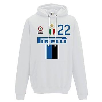 KiarenzaFD Sudadera Capucha Fútbol Vintage Inter 22 milito Temporada 09 - 10 ° 2 Hombre: Amazon.es: Deportes y aire libre