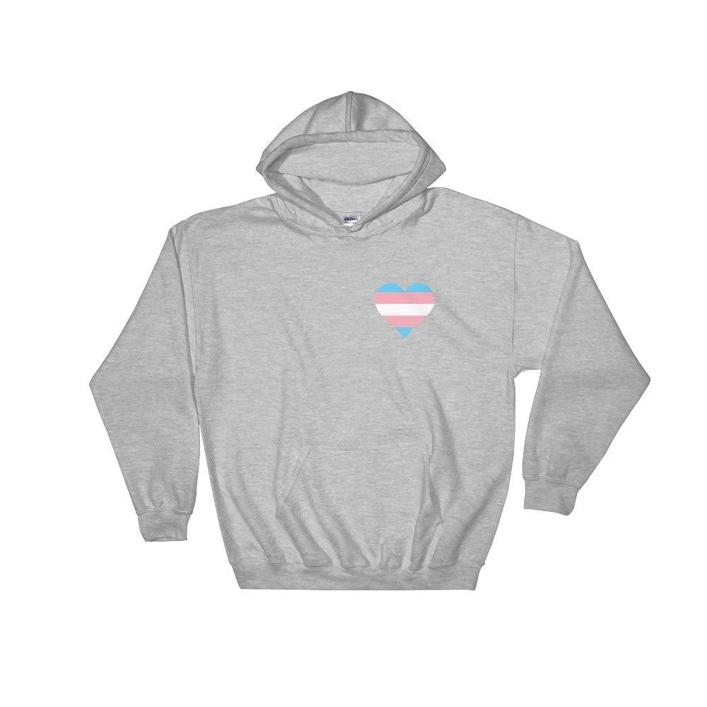 Trans Pride Heart Hoodie//Transgender Pride Flag Sweatshirt//Trans Pride Shirt//MTF FTM Equality Hoodie//Unisex