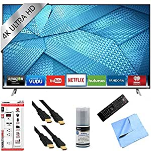 Vizio M49-C1 - 49-Inch 120Hz 4K Ultra HD M-Series LED Smart HDTV Hook-Up Bundle includes M49-C1 4K Ultra HD Smart TV, Screen Cleaning Kit, 6' HDMI Cable x 2, 6 Outlet/2 USB Wall Tap and Microfiber Cleaning Cloth