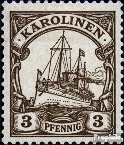 Carolines (German.Colony) 7 1901 Ship Imperial Yacht Hohenzollern (Stamps for Collectors) seafaring