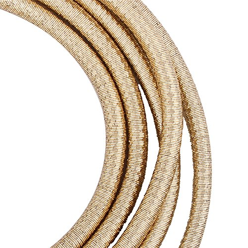 FANCY LOVE Newes Double Rope Maxi Colar Choker Necklace or Bracelet with Maganetic Lock (Gold necklace) by FANCY LOVE BOUTIQUE (Image #7)