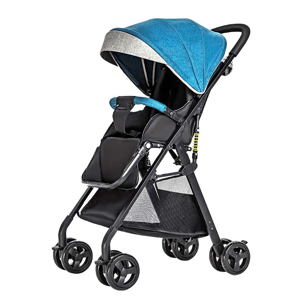 Decdeal High View Baby Buggy Kinderwagen Sportwagen fü r Kinder ab Geburt bis 50kg UV-Schutz Verdeck, Klein Zusammenklappbar Inkl. Zubehö r