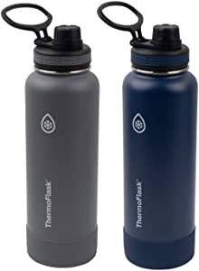 Thermoflask Double Wall Vacuum Insulated Stainless Steel Bottles (2 Bottles)