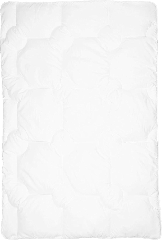 35x40 ZOLLNER Set de Couette et Coussin pour b/ébe 80x80 cm blanc