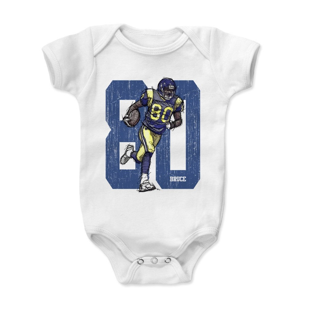 - Vintage St 3-6, 6-12, 12-18, 18-24 Months 500 LEVEL Isaac Bruce Baby Clothes /& Onesie Isaac Bruce Sketch 80 BY Louis Football Baby Clothes