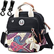 Lightweight Diaper Bag Backpack Crossbody Cooler for Unisex Neutral Boy(Balck)