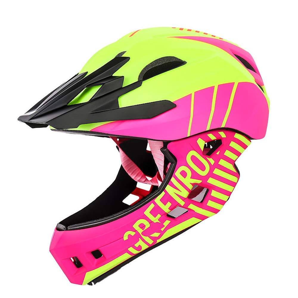 Bikyle Child Helmet, Sport Helmet Protective Gear for Cycling Skating Skiing Adjustable for Children 2 to 6 Years Old(52-56cm) (Color : Pink)
