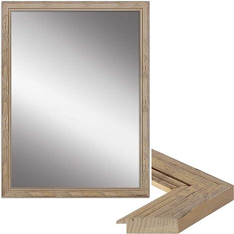"""Wandspiegel /""""USED LOOK/"""" Massivholzspiegel Spiegel Holzspiegel Antik Weiß"""