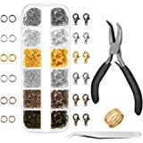Anezus 1020Pcs Jump Rings with Jewelry Pliers for Jewelry Making Supplies Jewelry Repair and Beading