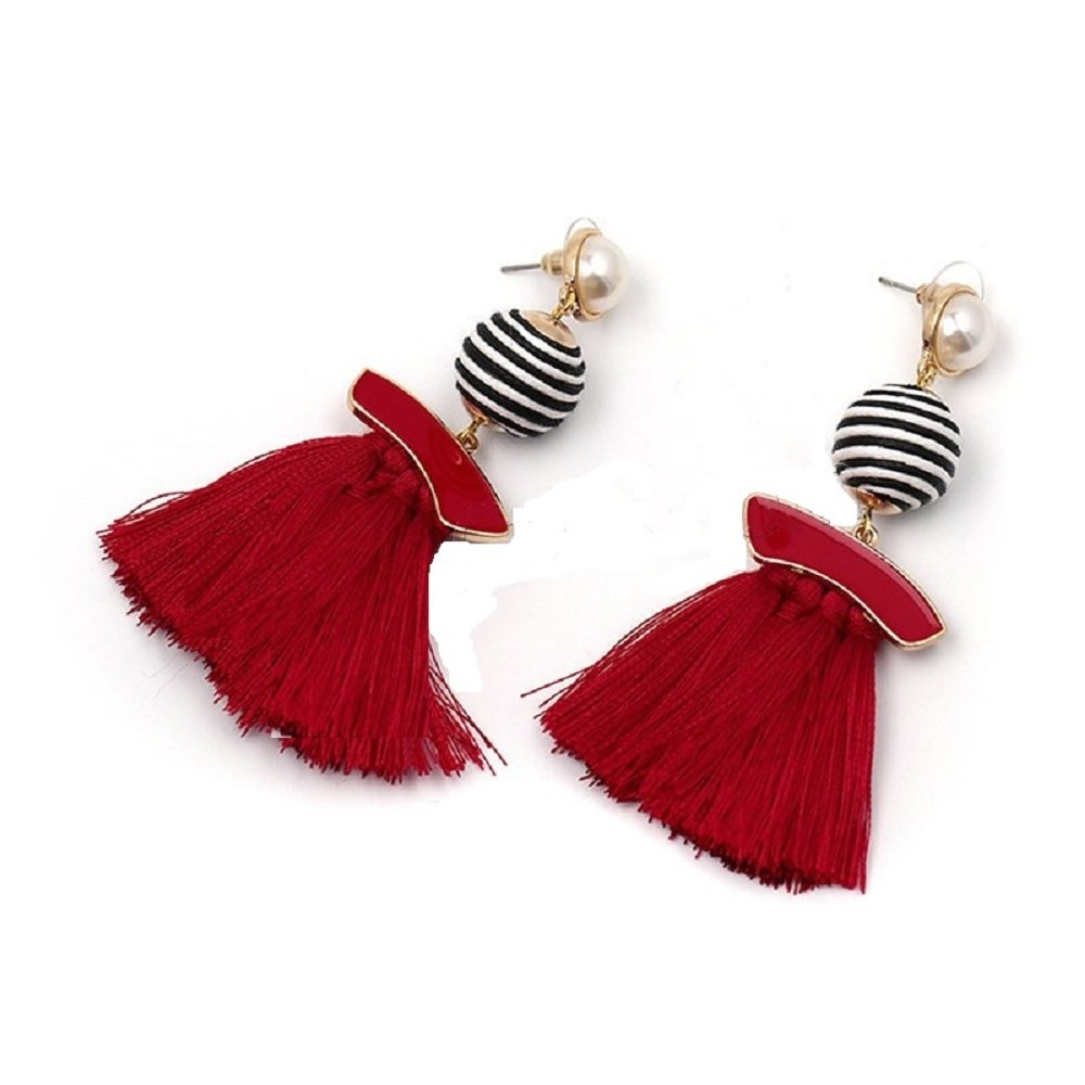 Choose Your Color! GemStorm Fashion Synthetic Pearl Tassel Stud Earrings